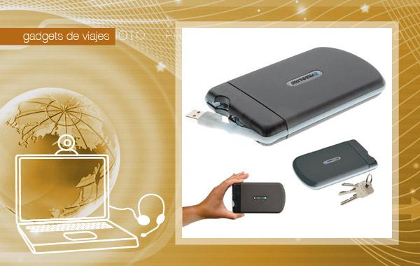 Disco duro portátil para viajes resistente a golpes