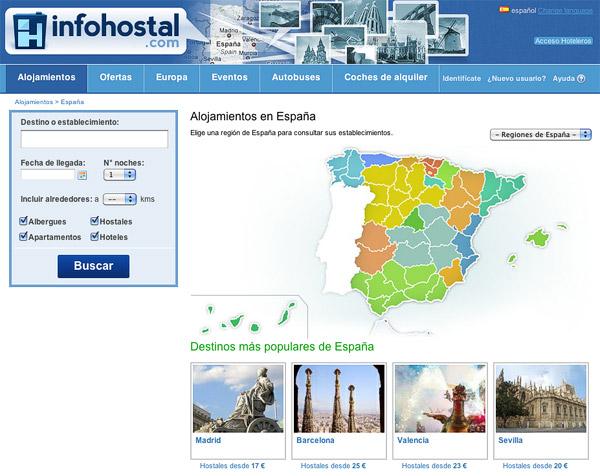 Infohostal hostales pensiones y hoteles baratos por for Busco hotel barato en barcelona